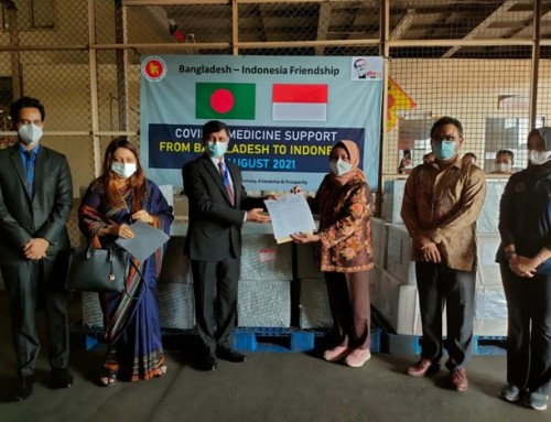 Govt in assistance with Beacon Pharma provides medicine aids to Indonesia